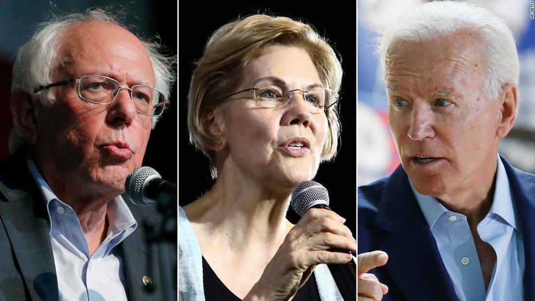 Monmouth poll: Bernie Sanders, Joe Biden and Elizabeth Warren in three-way lead for Democratic bid