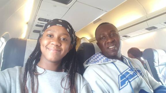 Tanya and dad, Tawanda Muzinda.