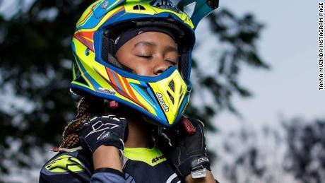 Tanya Muzinda has won regional and international Motocross tournaments