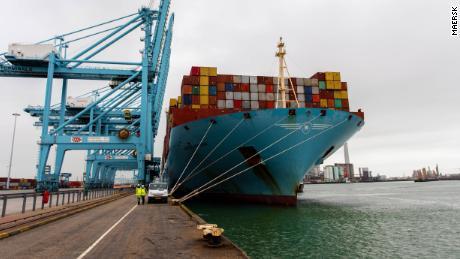 Mette Maersk работал на смеси мазута и биотоплива во время трехмесячного перелета туда и обратно из Роттердама в Шанхай.