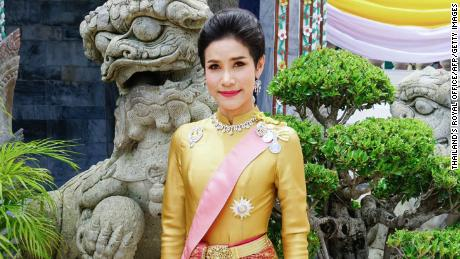 An undated image from Thailand's Royal Office shows Sineenat Wongvajirapakdi, who was anointed royal consort in July and stripped of the title in October.