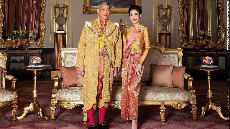 Thailand's Royal Office released photos on August 26, 2019 of King Maha Vajiralongkorn with royal noble consort Sineenat Wongvajirapakdi.