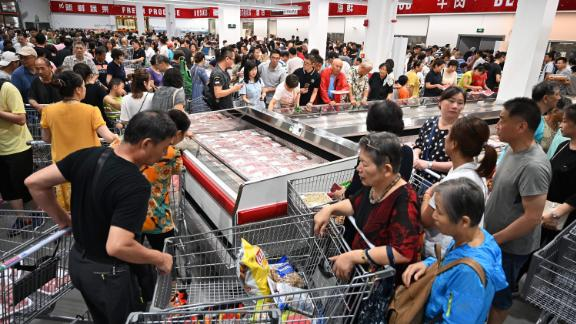 Costco's first store in Shanghai opened to massive crowds on Tuesday.