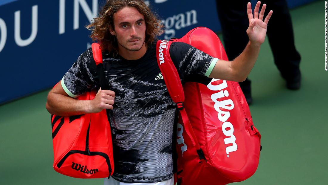 Stefanos Tsitsipas calls chair umpire a 'weirdo,' is one of four seeds in the top 10 to lose in US Open first round
