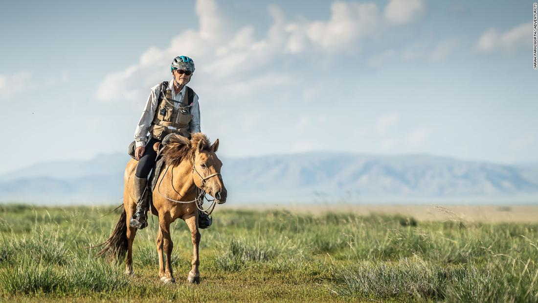 The horses they ride are from local herds and are not entirely domesticated. A team of vets ensure the animals are not pushed too much and are rested every 40 kilometers.