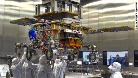 The ExoMars rover has been assembled but will have to wait for launch another two years.