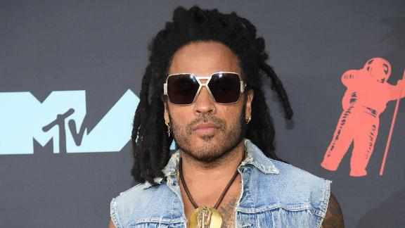 Lenny Kravitz is missing his sunglasses. (Photo by Dimitrios Kambouris/Getty Images)