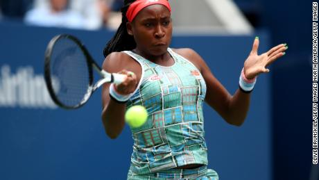 Coco Gauff wins in her US Open main draw debut