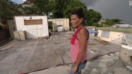 She built a shelter after Hurricane Maria took her home. Now she worries Dorian will take that too