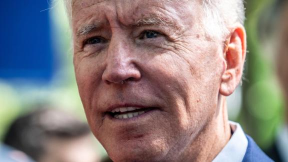 Former Vice President Joe Biden stopped in at Lindy's Dinner following a campaign rally at Keene State College, in Keene, New Hampshire, on August 24, 2019.
