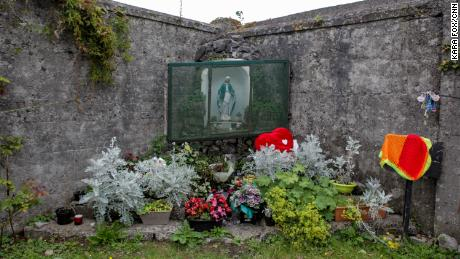 The memorial on the site of the Tuam House in County Galway, where the bodies of hundreds of babies who died were placed in a retired sewage tank.