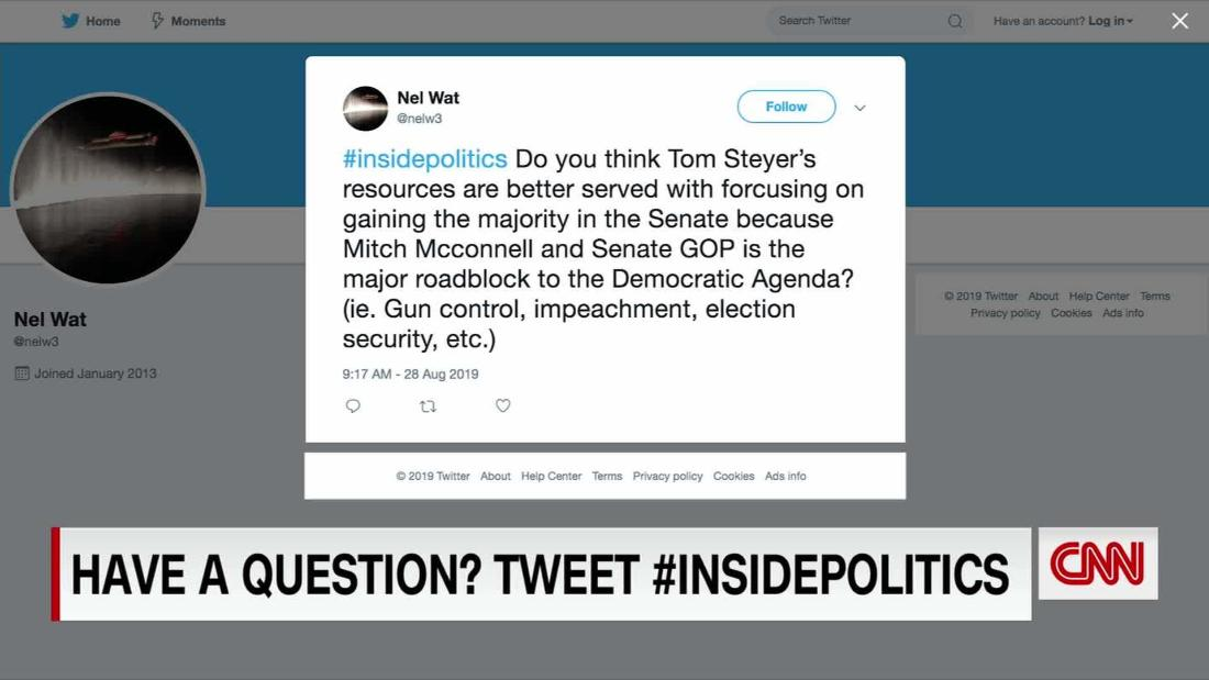 #InsidePolitics Twitter Questions: Why Not Set up Undercard Debate?