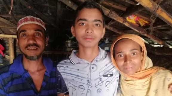 Mohammad Faisal reunited with his father Laal Miah and mother  Khurshida Begum after his unexpected release.