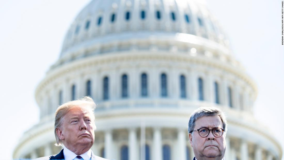 Trump asked for Barr to host news conference clearing him on Ukraine