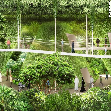 The Pavilion is inspired by its theme of 'Nature. Nurture. Future.' It is designed to showcase the Singapore's innovations and aspirations as a resilient, livable city in a garden.
