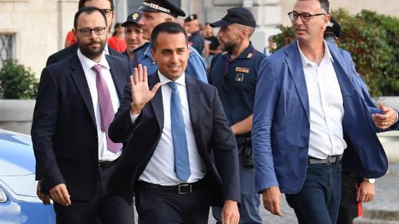 Italy's Five Star Movement leader Luigi Di Maio arrives for a meeting with the Italian President as part of a second round of consultations with political parties.