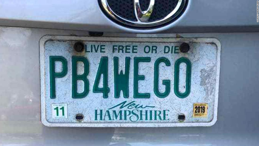 A mom with a license plate that reads 'PB4WEGO' wins a