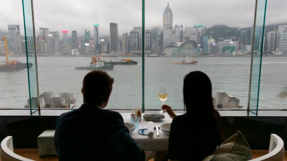 Visitors at the InterContinental in Tsim Sha Tsui, Hong Kong. The company recently said its hotel and food and beverage business had taken a hit from the city's ongoing protests.