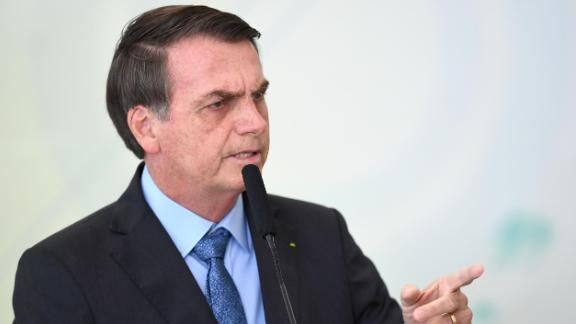 Brazilian President Jair Bolsonaro banned the use of fire to clear land throughout Brazil on Wednesday.