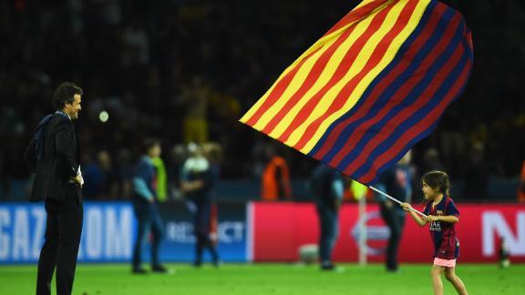 Enrique celebrates Barcelona
