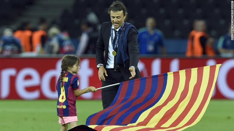 ผลการค้นหารูปภาพสำหรับ Ex-Barcelona boss Luis Enrique pays tribute to daughter after tragic death