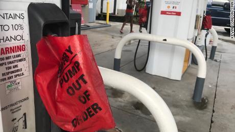 Stations in several parts of Florida are running out of gas before Hurricane Dorian arrives.