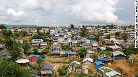 The refugee camps at Cox's Bazar, Bangladesh provide temporary settlement to 912,000 Rohingya.