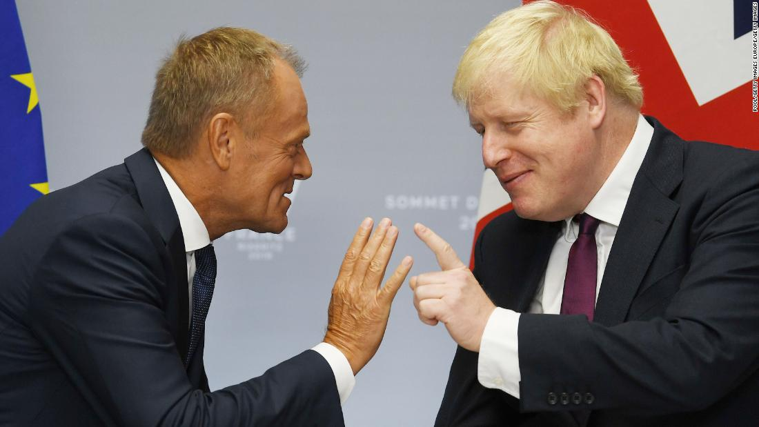 Donald Tusk accuses Boris Johnson of playing 'some stupid blame game'