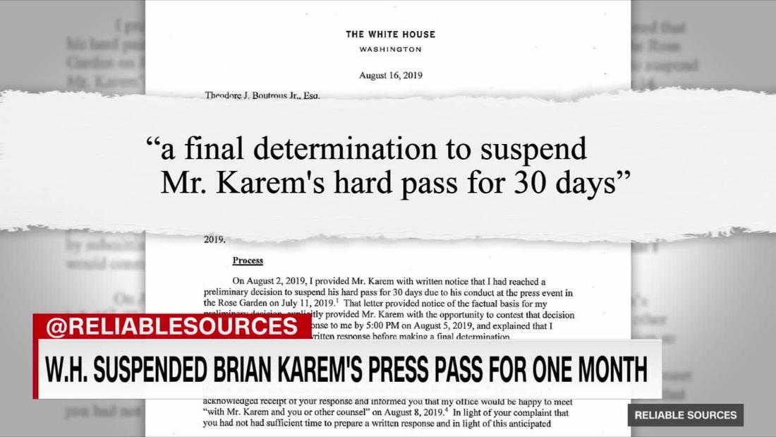 Brian Karem suing Trump over press pass suspension
