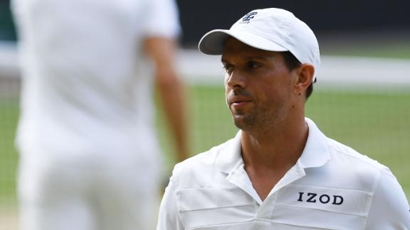 Mike Bryan was fined for making a gun gesture at the US Open.