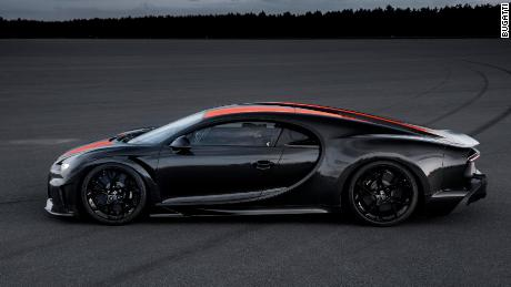Changes were made to the car's body to improve its aerodynamics for very high speeds.