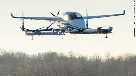 Boeing's Aurora Passenger Air Vehicle is an eVTOL (electric vertical takeoff and landing) aircraft.