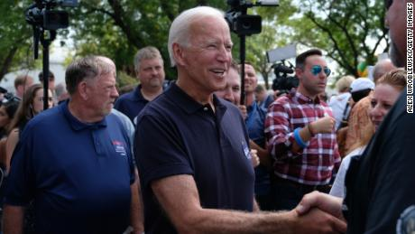 CEDAR RAPIDS, IA - SEPTEMBER 02: Democratic presidential candidate and former US Vice President Joe Biden campaigns on September 2, 2019 in Cedar Rapids, Iowa. Biden spoke at the Hawkeye Area Labor Council Picnic and was among several Democratic presidential candidates who attended the Labor Day event. (Photo by Alex Wroblewski/Getty Images)