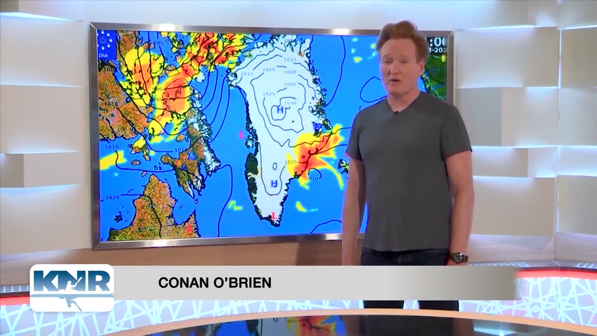 Conan Attempts To Read The Weather Report In Greenland Cnn Video