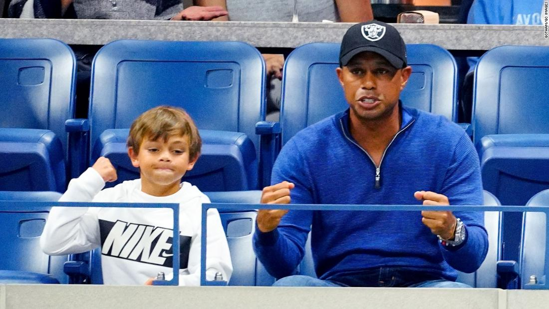 Tiger Woods enjoyed watching Rafael Nadal's win against Marin Cilic at the US Open