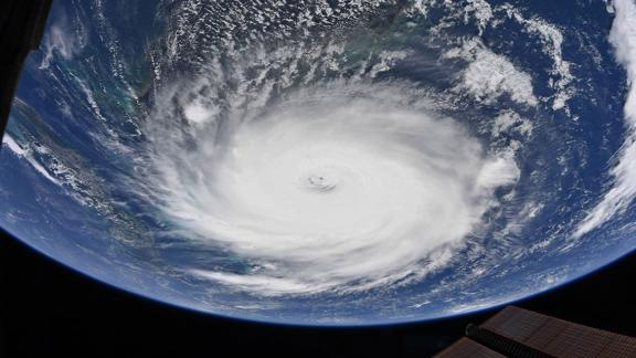 This view of the storm was taken from the International Space Station on September 2.