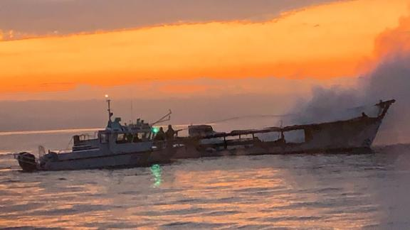 Dozens of people sleeping below deck of the Conception boat are feared dead after the blaze.