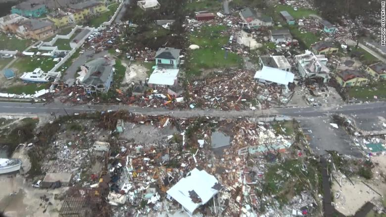 The Category 5 hurricane hit Great Abaco Island with sustained winds of 180 mph.