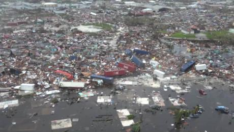 In the Bahamas shocking scenes of devastation left by the deadly Hurricane Dorian