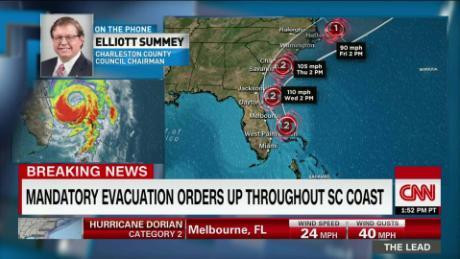 Charleston braces for powerful storm Dorian, flooding major concern