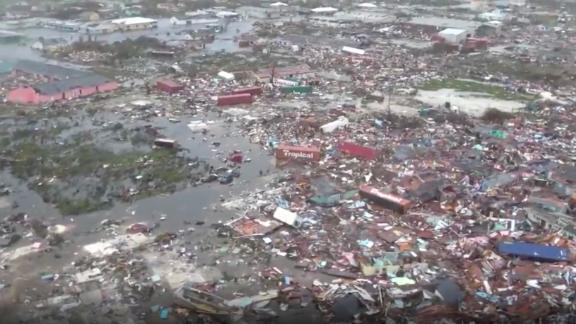 Destruction in the Bahamas.