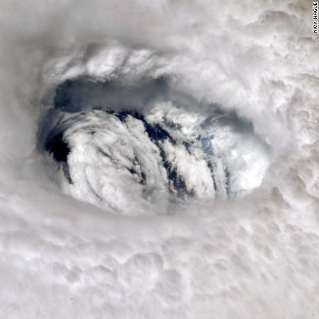 This photo of Hurricane Dorian's eye was captured from astronaut Nick Hague from the International Space Station.