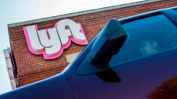 A driver rides his car in front of the Lyft drivers hub in Los Angeles, California, March 29, 2019. - Ride-hailing company Lyft made its Initial Public Offering (IPO) on the Nasdaq Stock Market on March 29th. (Photo by Apu Gomes / AFP)        (Photo credit should read APU GOMES/AFP/Getty Images)