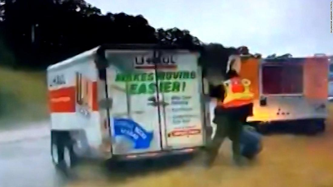 U-Haul hydroplanes and slams into firefighters