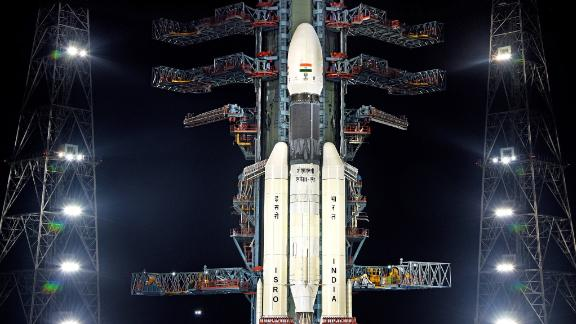 Chandryaan-2 on board the Geosynchronous Satellite Launch Vehicle (GSLV MK III-M1 sits at the second launch pad in Sriharikota in the state of Andhra Pradesh / Courtesy: Indian Space research Organisation