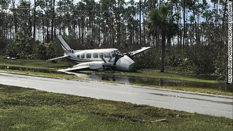 The airport on the island of Grand Bahama is 'a debris field' after Hurricane Dorian