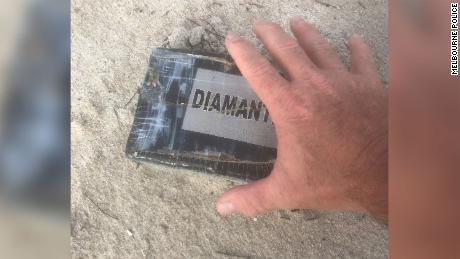 A kilogram of cocaine washed up Tuesday at Florida's Paradise Beach Park.