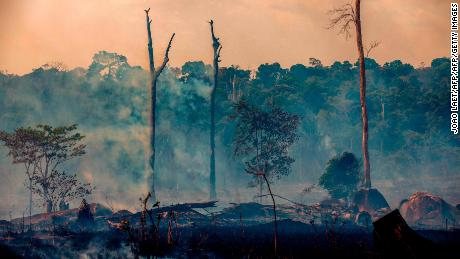 A photo from Brazil in August 2019 shows one of the many fires that scorched the Amazon last year.