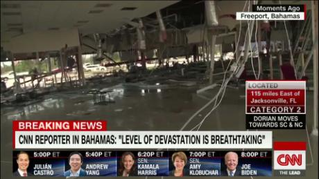 Bahamas airport destroyed by Hurricane Dorian