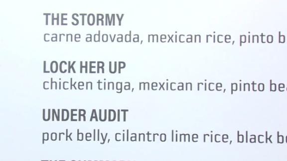 Some of the menu items at Urban Taqueria.